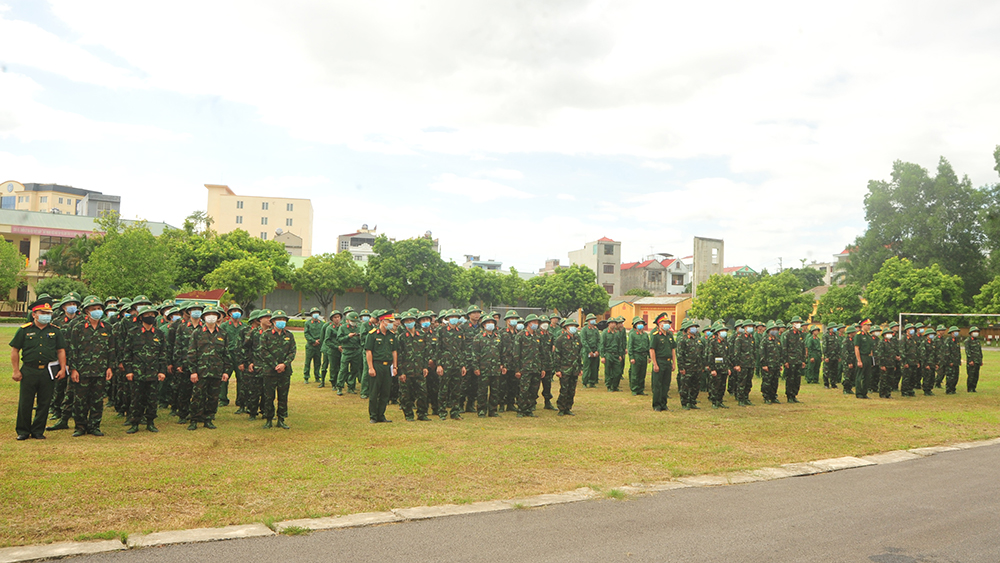Bắc Giang, Bộ CHQS tỉnh, quân nhân dự bị, huấn luyện, Trung đoàn 831