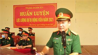 Bắc Giang: Huấn luyện lực lượng dự bị động viên
