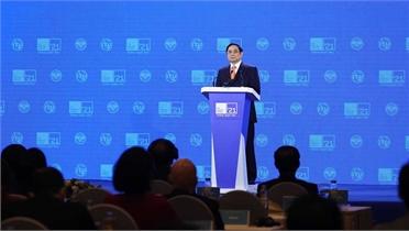 Thủ tướng Phạm Minh Chính chia sẻ 5 ưu tiên hợp tác trong thế giới số
