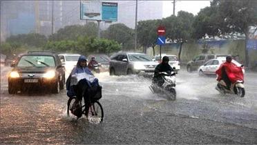 Từ chiều 13 đến 15/10, hoàn lưu bão gây mưa lớn ở Bắc Bộ, Bắc Trung Bộ