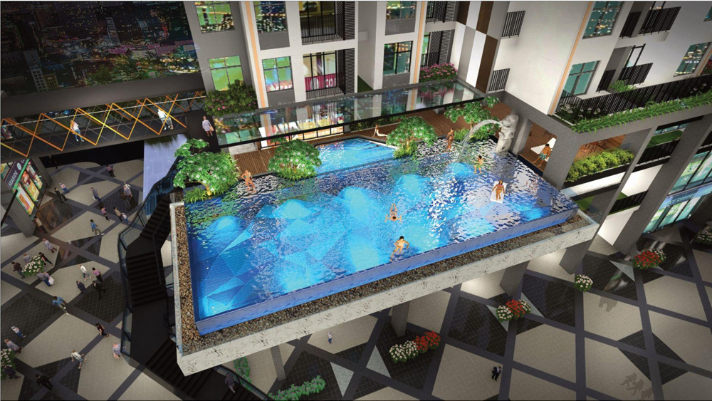 Bể bơi tràn viền ngoài trời - tiện ích dịch vụ chuẩn resort.