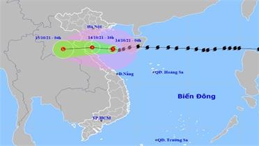Bão suy yếu thành áp thấp nhiệt đới khi vào vùng biển Nam Định đến Hà Tĩnh