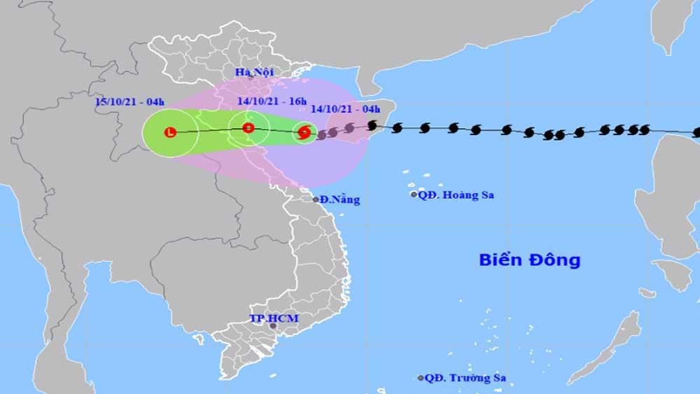 Bão suy yếu, áp thấp nhiệt đới, vùng biển Nam Định, Hà Tĩnh