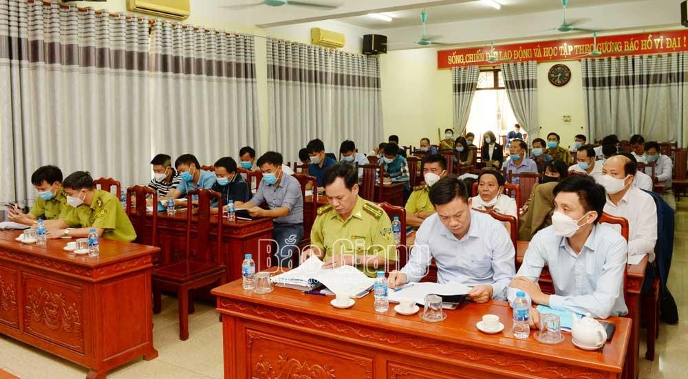 Kiểm lâm, lâm nghiệp, sản xuất, kinh doanh, Bắc Giang