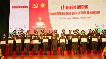 Tuyên dương các đội tuyển và lực lượng tham gia Army Games 2021