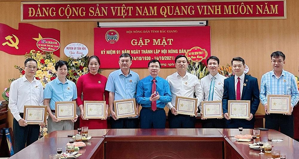 Hội Nông dân, Bắc Giang, giai cấp nông dân, Việt Nam, Kỷ niệm chương