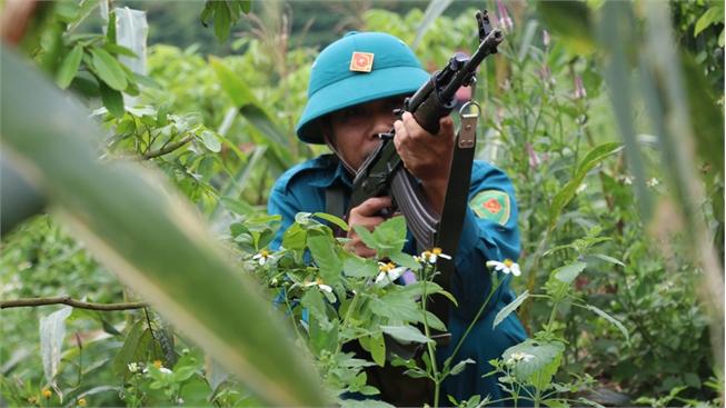 Lục Ngạn: Diễn tập chiến đấu phòng thủ cấp xã