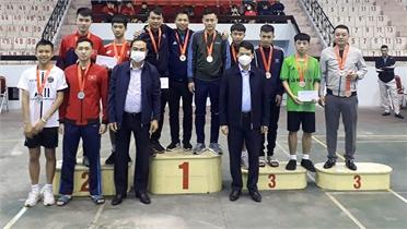 Đội TP Bắc Giang đứng thứ Nhất tại Giải vô địch đá cầu năm 2021