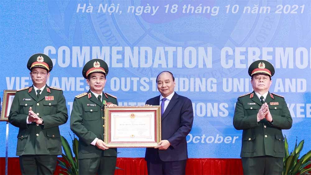 Chủ tịch nước tuyên dương lực lượng tiêu biểu tham gia gìn giữ hòa bình Liên hợp quốc