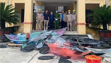 Hiệp Hòa: Một ngày thu giữ, tiêu hủy 51 chiếc diều vi phạm hành lang lưới điện