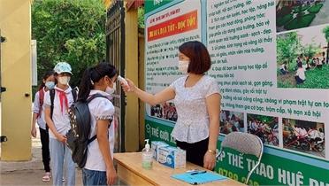 Các trường học ở Bắc Giang siết chặt biện pháp phòng dịch
