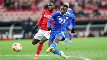"Daka lập ""poker"" cho Leicester ở Europa League"