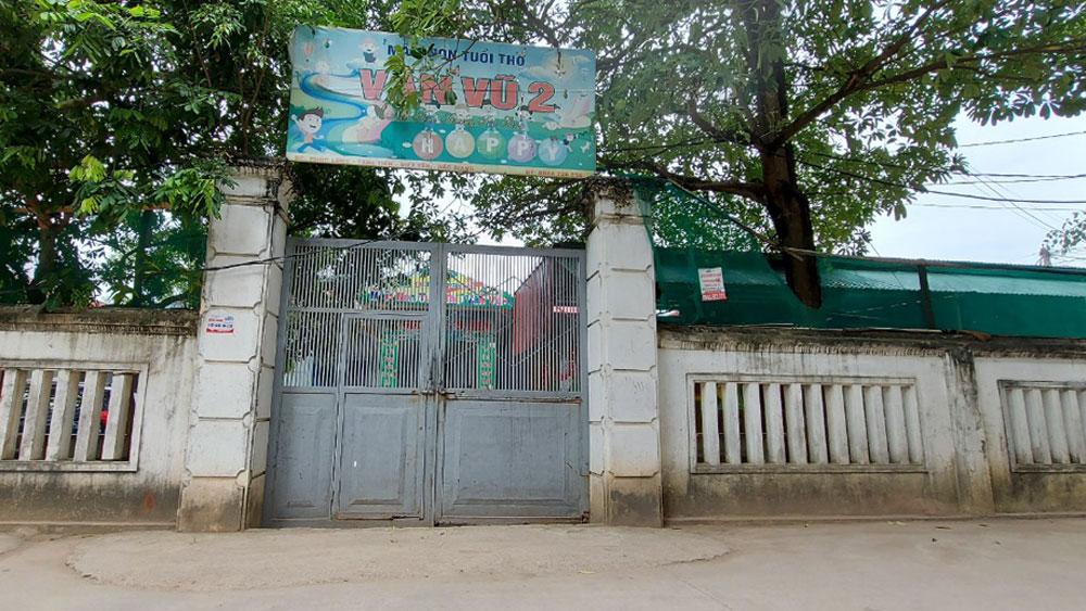 Bắc Giang: Tạm dừng hoạt động cơ sở mầm non Vân Vũ do để trẻ đánh nhau