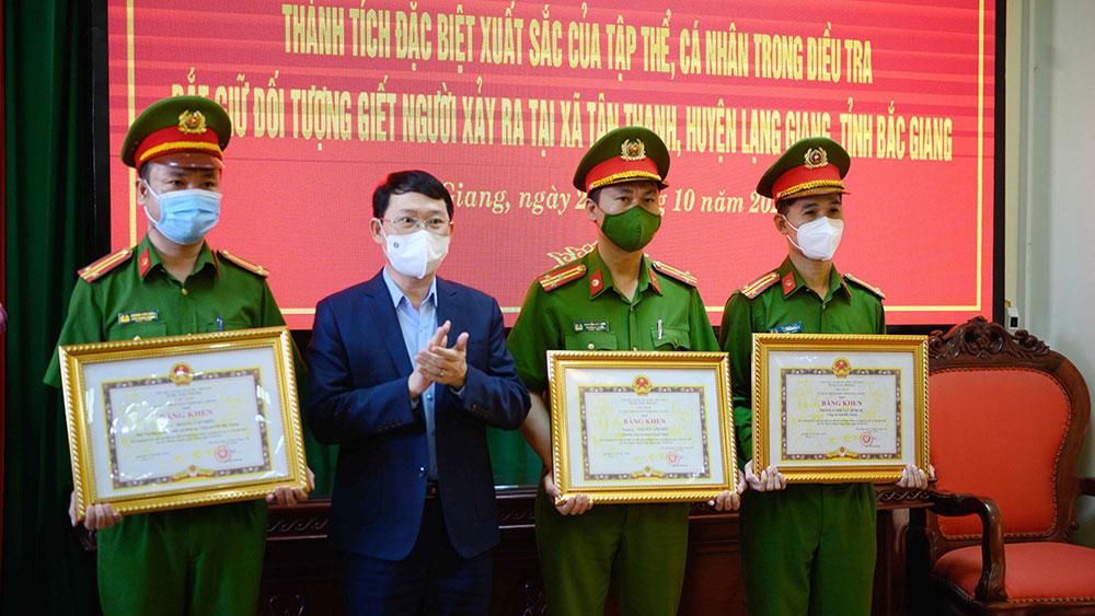 Chủ tịch UBND tỉnh Bắc Giang khen thưởng lực lượng công an về thành tích truy bắt bị can Trần Văn Hiếu
