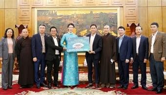 SGI donates to build three-arched gate and Trinh pagoda in Vinh Nghiem pagoda